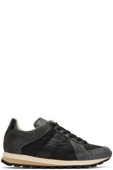 Maison Margiela - Black Retro Runner Sneakers