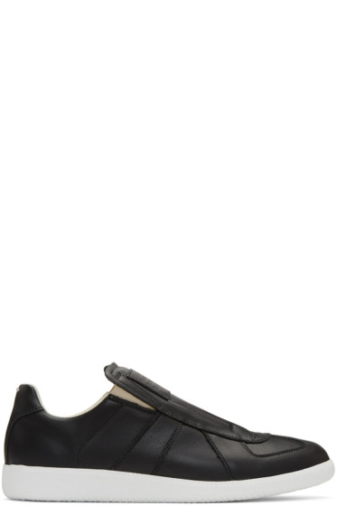 Maison Margiela - Black Laceless Replica Slip-On Sneakers