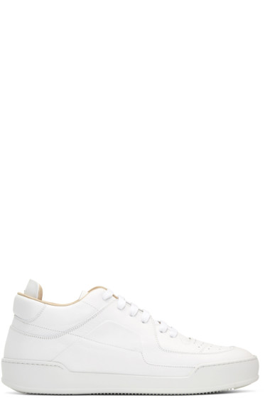 Maison Margiela - White Leather Sneakers