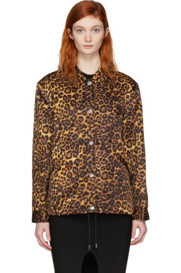Alexander Wang - Tan Leopard Nylon Jacket