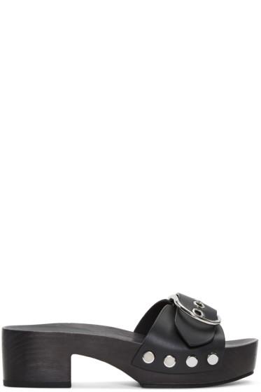 Alexander Wang - Black Maya Clog Sandals