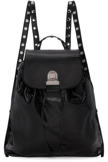MM6 Maison Margiela - Black Leather Backpack