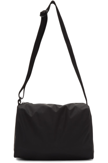 MM6 Maison Margiela - Black Rubber Duffle Bag