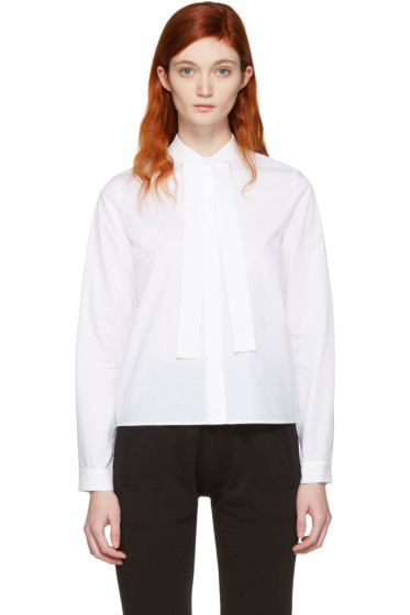 MM6 Maison Margiela - White Tie Collar Shirt