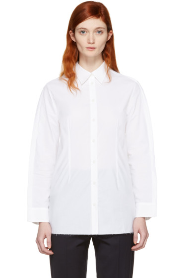 MM6 Maison Margiela - White Button Back Shirt