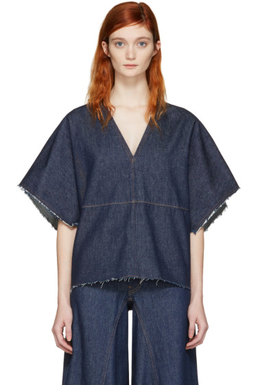 MM6 Maison Margiela - Blue Denim Blouse