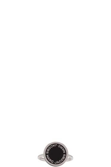 Marc Jacobs - Silver Enamel Logo Disc Ring
