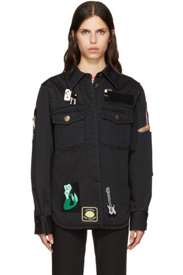 Marc Jacobs - Black Embellished Military Jacket