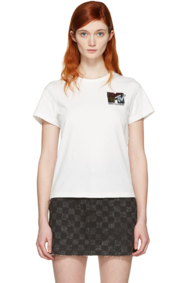 Marc Jacobs - Ivory 'MTV' T-Shirt
