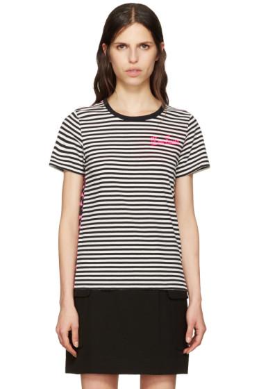 Marc Jacobs - Black Printed Patchwork T-Shirt