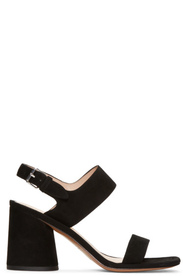Marc Jacobs - Black Suede Emilie Sandals