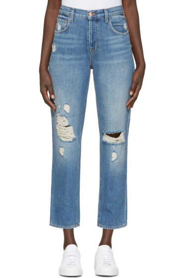 J Brand - Blue High-Rise Ivy Jeans