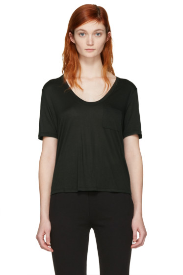 T by Alexander Wang - Green Cropped T-Shirt