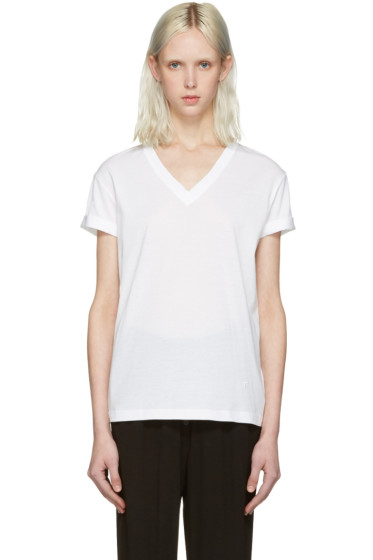 T by Alexander Wang - White V-Neck T-Shirt