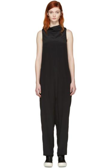 Rick Owens - Black Halter Bodybag Jumpsuit