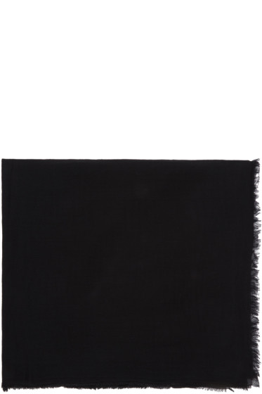 Rick Owens - Black Cotton Scarf