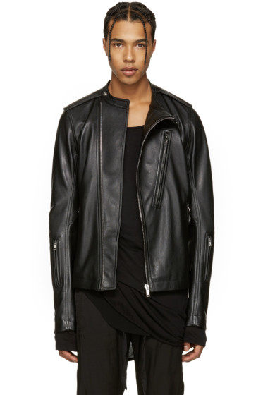 Rick Owens - Black Leather Cyclop Biker Jacket