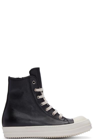 Rick Owens - Black High-Top Sneakers