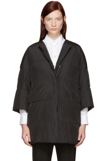 Jil Sander - Reversible Black Down Camping Coat