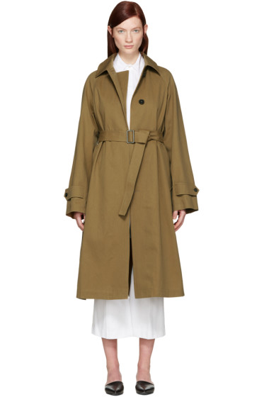 Jil Sander - Tan Croquet Trench Coat