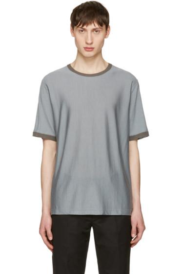 Jil Sander - Grey Contrast Collar T-Shirt