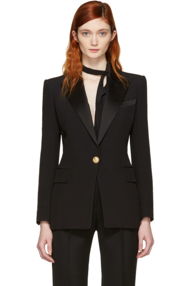 Balmain - Black Single Button Blazer
