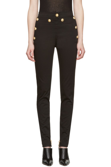 Balmain - Black Gold Buttons Jeans