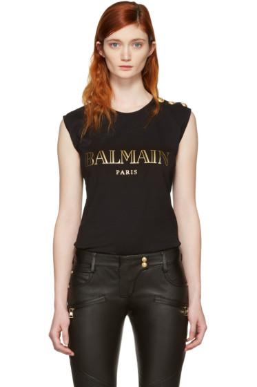 Balmain - Black Logo T-Shirt