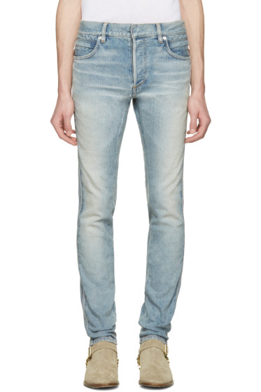 Balmain - Blue Ribbed Jeans