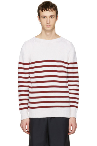 A.P.C. - White Striped Lord Pullover