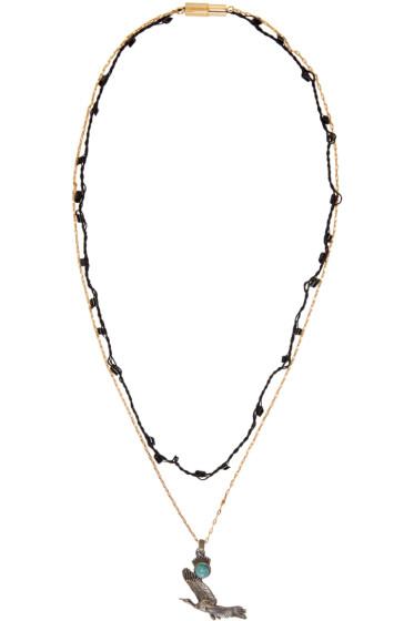 Lanvin - Gold & Silver Bird Necklace