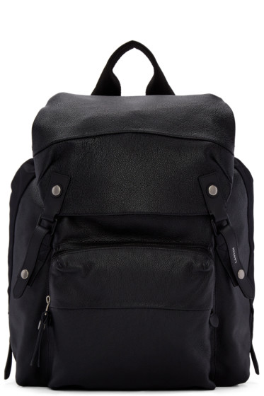 Lanvin - Black Leather & Nylon Rucksack