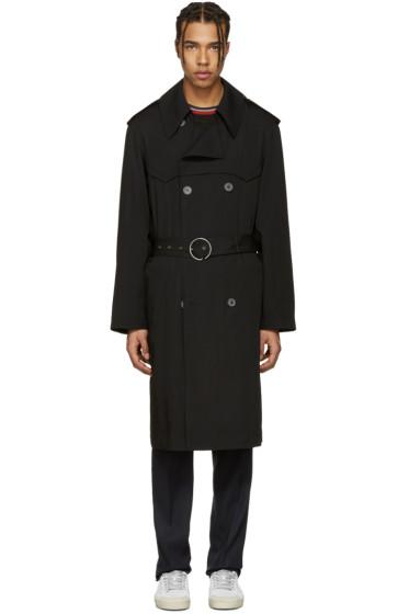 Lanvin - Black Wool Trench Coat