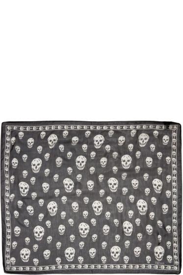 Alexander McQueen - Black Silk Skull Scarf