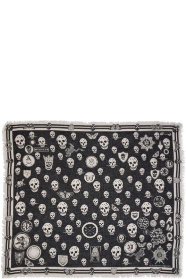 Alexander McQueen - Black Multi Skull Scarf