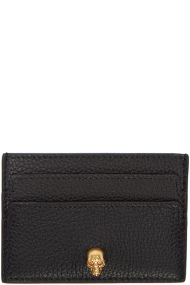 Alexander McQueen - Black Skull Card Holder