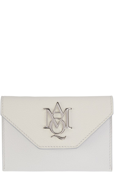 Alexander McQueen - Ivory Insignia Envelope Card Holder