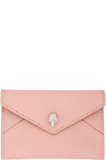Alexander McQueen - Pink Skull Envelope Card Holder