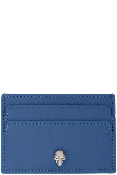 Alexander McQueen - Blue Skull Card Holder