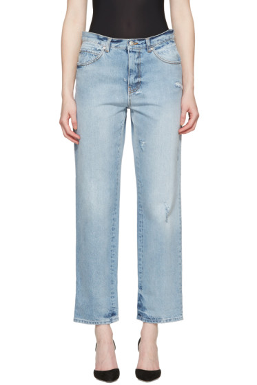 Alexander McQueen - Blue Loose Fit Jeans