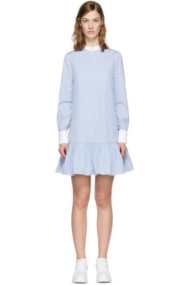 Alexander McQueen - Blue Drop Waist Shirt Dress