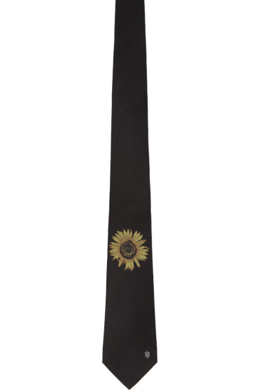 Alexander McQueen - Black Sunflower Tie