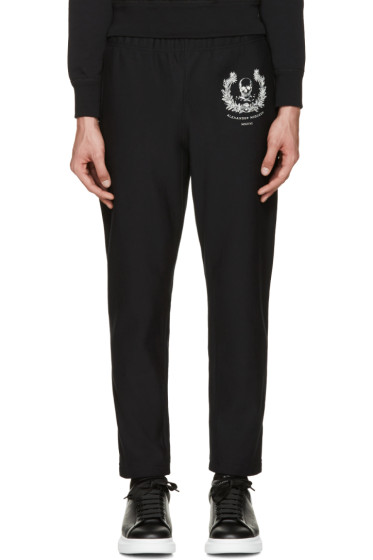 Alexander McQueen - Black Skull & Crown Lounge Pants