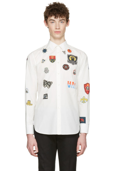 Alexander McQueen - White Badges Shirt