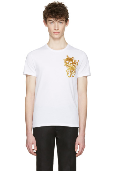 Alexander McQueen - White Three Skulls T-Shirt