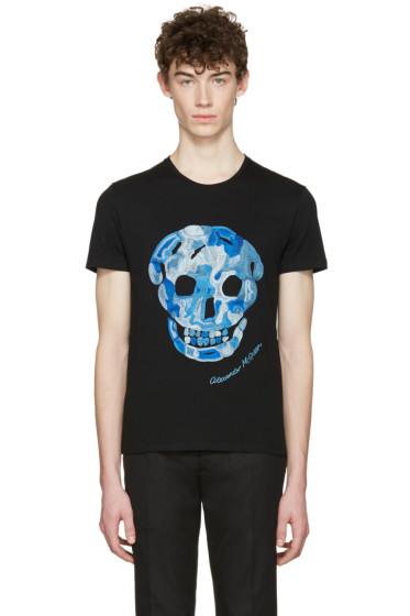 Alexander McQueen - Black Embroidered Skull T-Shirt