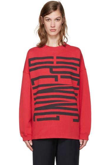 Opening Ceremony - Red Cozy Stretch Sweatshirt