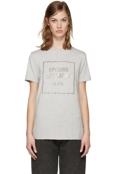 Opening Ceremony - Grey Gel Box Logo T-Shirt