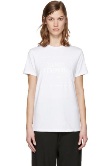 Opening Ceremony - White Gel Box Logo T-Shirt