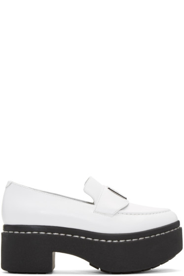 Opening Ceremony - White Platform Agnees Loafers